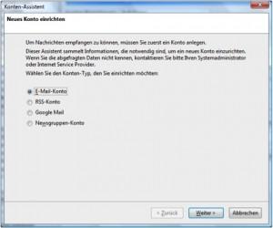 Thunderbird eMail Konto
