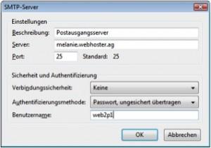 Thunderbird SMTP
