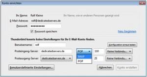 Thunderbird IMAP unverschlüsselt