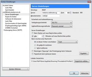 Thunderbird IMAP verschlüsselt