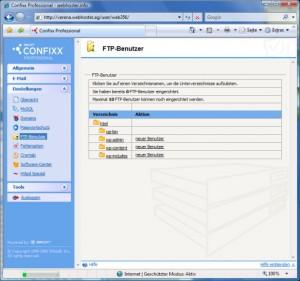 Confixx FTP Benutzer anlegen