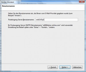Thunderbird IMAP Postfachname